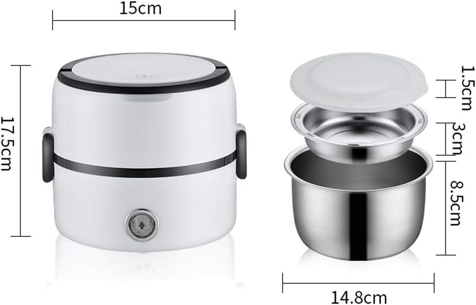 DYXYH 2 Niveau électrique Déjeuner Chauffage Box, Cuisinière électrique Express Hot Pot avec contrôle de température (Color : Style two) Style One