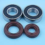 Kit de sello de aceite de rodamiento de bolas de cigüeñal compatible con Honda GX25 UMK425 GX25N HHT25S FG110 Desbrozadora Recortadora Repuestos de repuesto