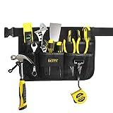 FASITE YL003B 7-POCKET Gardening Tools Belt Bags Garden Waist Bag Hanging Pouch, Black