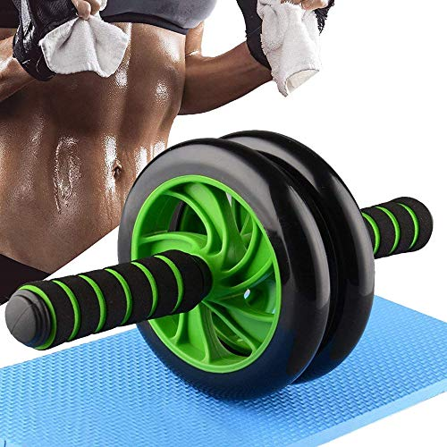 Izoo Ab Roller Perfect Abdominal and Stomach Exercise for Total Body Carver Fitness Workout for Home for 6 Pack Abs (Green and Black)