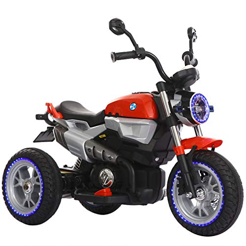 BABLE 12V Kids Motorcycle, Kids Ride On Motorcycle Toys 3 Wheels Electric Trike Motorcycle,...