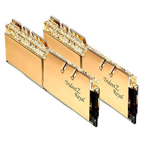 G.SKILL 32GB DDR4 Trident Z Real Oro 3200 MHz PC4-25600 CL16 1.35V Dual Channel Kit (2x16GB)