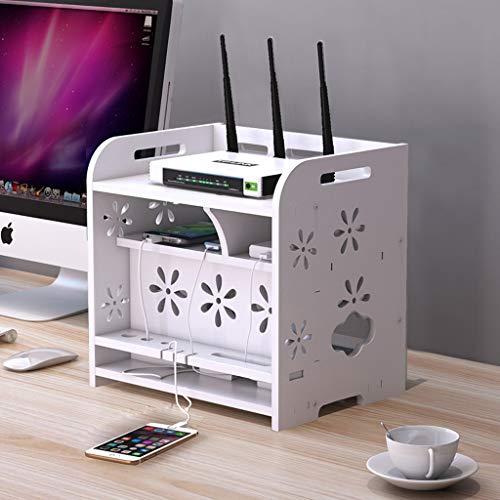 Routeur Wi-Fi Set top box boîte de rangement douille Boîte de finition du cordon d'alimentation Etagère de stockage pour appareil multimédia étagère d'affichage multi-fonctionnel