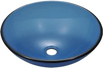 601 Aqua Coloured Glass Vessel Sink