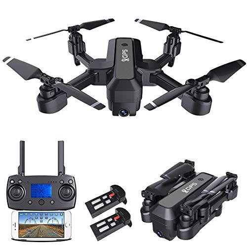 Faltbare GPS Drohne mit 4K Kamera, GEYUEYA Home FPV RC Quadcopter 5GHz WiFi Full-HD Live Übertragung mit 120° Weitwinkel Kamera, Auto Rückkehr, Follow Me, 40 Min. Lange Flugzeit Mini Drohne mit Tasche