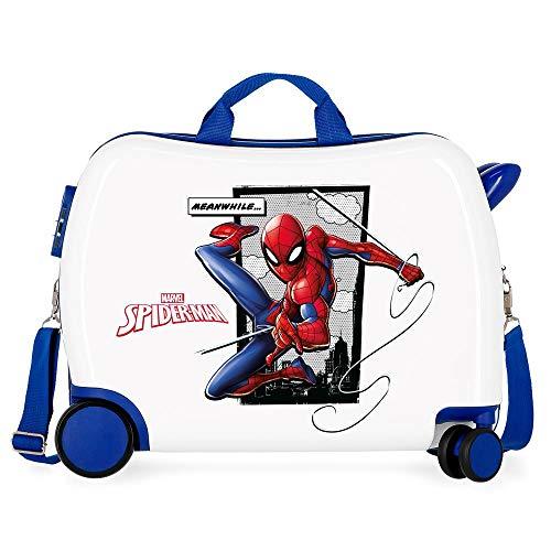 Marvel Spiderman Action Maleta Infantil Azul 50x38x20 cms Rígida ABS Cierre combinación 34L 2,3Kgs 4 Ruedas Equipaje de Mano