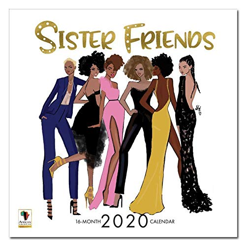 African American Expressions 2020 Wall Calendars - 2020-2021 Monthly Calendars Celebrating Black Culture & History - 12x12 Hanging Calendar - 16 Months - Sister Friends Nicholle Kobi