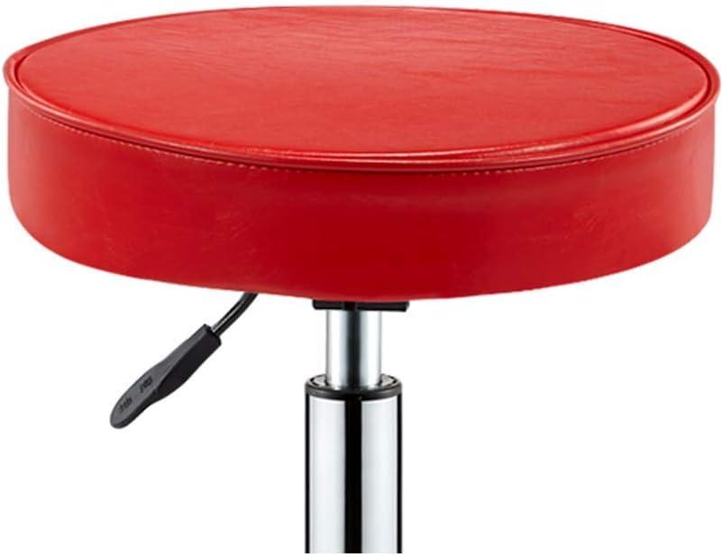 SXRDZ Chaise pivotante Bureau Tabouret Salon de beauté Tabouret Tabouret médical Enroulable Tabouret réglable en Hauteur, avec des Roues, 360 degrés de Rotation (Color : Red) Red