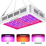 1000w LED Grow Light with Bloom and Veg Switch,iPlantop Triple-Chips LED Plant Growing Lamp Full Spectrum with Daisy Chained Design for Professional Greenhouse Hydroponic Indoor Plants(White)