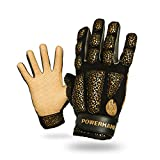 POWERHANDZ Weighted Exercise Gloves for Strength and Resistance Fitness Training - Non Slip, Pure Grip Heavy Weight Lifting Gym Gloves, Youth