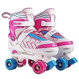[page_title]-Hikole Rollschuhe für Kinder Roller Skates für Anfänger größenverstellbare (Größe 31-38) ABEC 7, Bequem und atmungsaktiv Quad Skates für Mädchen, Jungen, Jugendliche