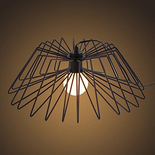 Crayom Lampe de table à araignée en fer simple nordique Luminaires à cage d'oiseaux Luminaires à table à araignée Salon Salle à manger Lumières de restaurant Diamètre: 45 cm