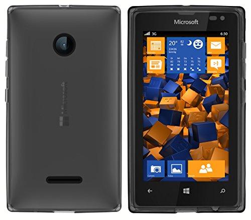 mumbi Hülle kompatibel mit Microsoft Lumia 532 Handy Hülle Handyhülle, transparent schwarz