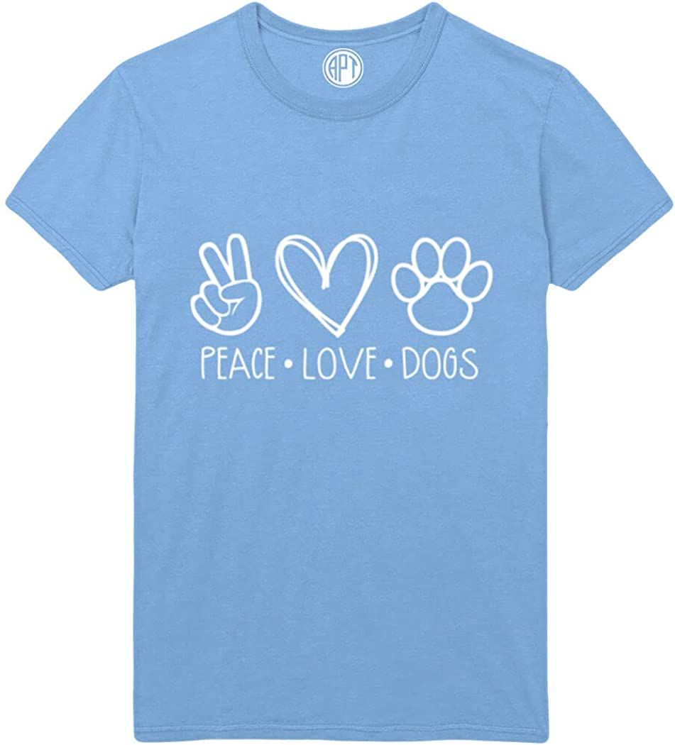 Peace, Love, Dogs Printed T-Shirt