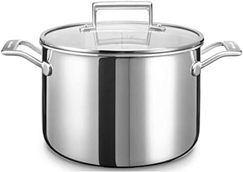 high quality KitchenAid outlet sale KC2T80SCST high quality Cooking Pot Stainless Steel 24X 24X 13cm Silver outlet sale