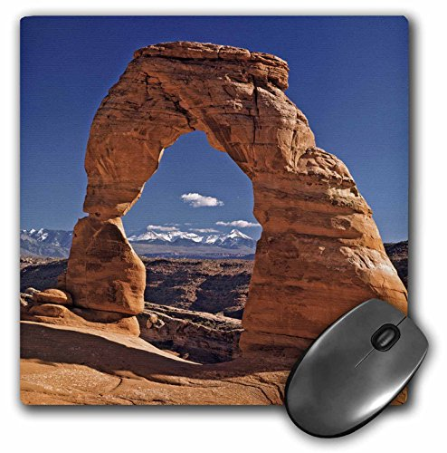 3dRose LLC 8 x 8 x 0.25 Inches Mouse Pad, Utah, Delicate Arch at Arches National Park, RIC Ergenbright (mp_94857_1)