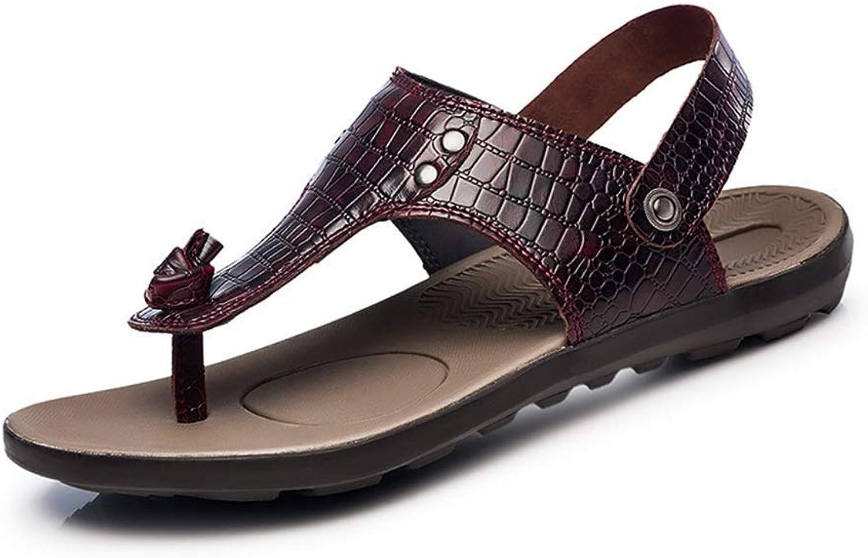 BAIF BAIF Mode Sandalen Krokodilstruktur Elegante Metall-Accessoires Dual-Use-Hausschuhe Herren Sommer Schuhe (Farbe  Wein, Größe  5,5 UK)  großhandel billig