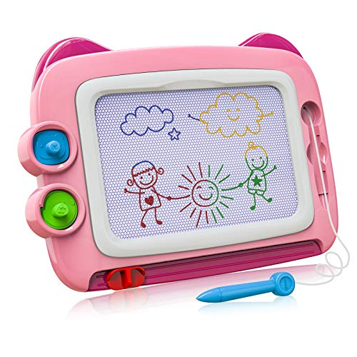 Magnetic Drawing Board Toddler Toys for 2 3 4 Year Old Girls, Magna Doodle Board Gift for 2 3 4 Year Old Girl, Preschool Learning/Educational Girls Toys Age 2 3 4 Birthday Gift Pink