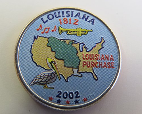 2002 Various Mint Marks Louisiana State Colorized Quarter Choice Uncirculated