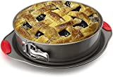 10' Non-Stick Springform Pan by Boxiki Kitchen. Professional Spring Form and Cheesecake Baking Mold. Leakproof Cake Pan With Silicone Handles.
