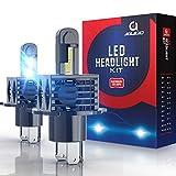 H4 LED Ampoules Voiture, AOLEAD 14000LM 80W LED Phares pour Voiture et Moto, 6500K, 12V