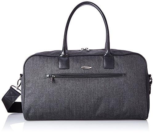 Pierre Cardin Crosby 19 Inch Duffle Bag, Herringbone/Black