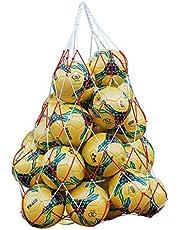 Extra stor vattentät nätutrustning duffelväska kraftig nätboll axelväska basket volleyboll fotbollsmatta boll fotboll bärväska bärväska bärväska med dragsko för 10-15 bollar