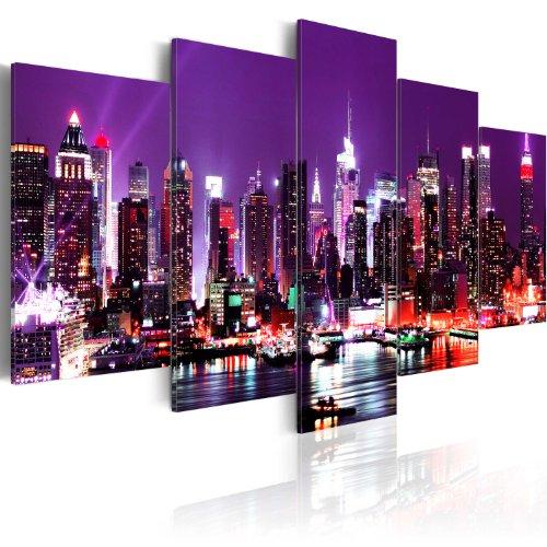 murando - Bilder New York 200x100 cm Vlies Leinwandbild 5 TLG Kunstdruck modern Wandbilder XXL...
