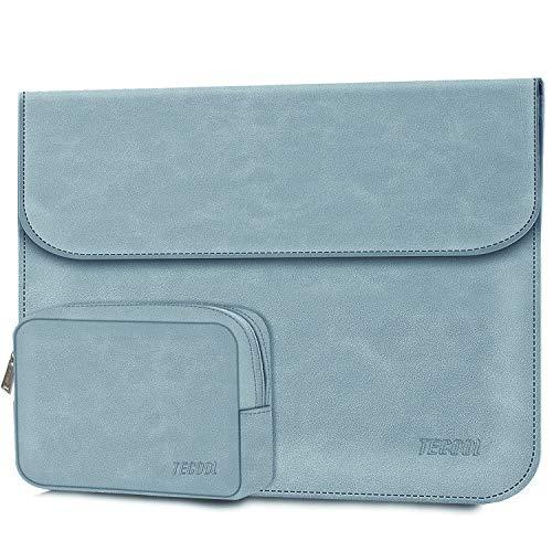TECOOL 12.3-13 Zoll Laptop Hülle Tasche Faux Wildleder Schutzhülle & Zubehörtasche für 2018-2020 MacBook Air 13 M1A2337/A1932/A2179,2016-2020 MacBook Pro 13 M1,Huawei/XPS 13, Surface Pro X 7-Blau