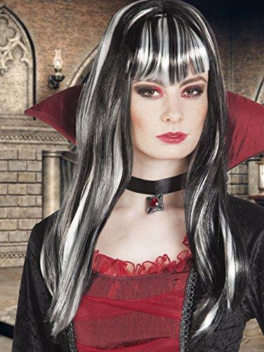 Boland- Parrucca Vampira Lunga Medea per Adulti, Nero/Bianco, Taglia Unica, 86287
