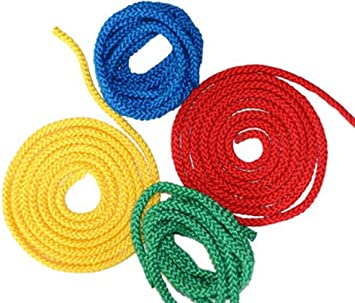 EDUPLAY 800434 Uni corde corde à sauter corde couleur zufälli MULTICOLORE par 2,5 m