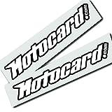 Twisted Melon Motocard - 2 pegatinas de diseño de patrocinador con texto en blanco y negro
