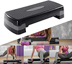 HFJKD 28  adjustable step-by-step aerobic exercise bench with non-slip platform and four original risers
