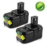 2x Boetpcr P108 18V 5,5Ah Lithium-Ion Pack Remplacement de Batterie Remplacement pour...