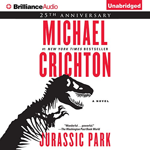 Jurassic Park audiobook cover art