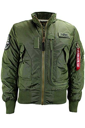 ALPHA INDUSTRIES Herren Jacke ENGINE dark green Fliegerjacke Bomberjacke Blouson (XL)