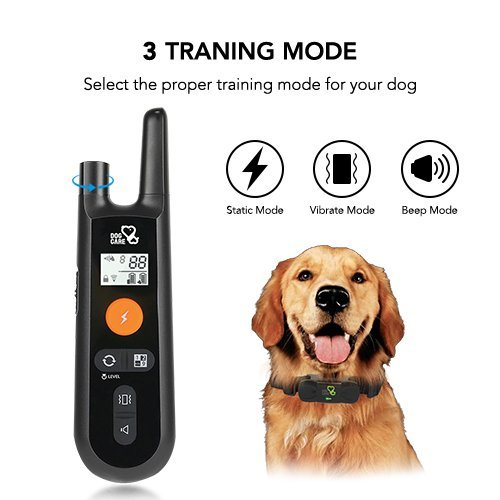 Dog Training Collar - Rechargeable Dog Shock Collar w/3 Training Modes, Beep, Vibration and Shock, 100% Waterproof    Training Collar, Up to 1000Ft Remote Range, 0~99 Shock Levels Dog Training Set