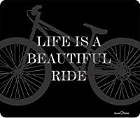 Atomic Market Life Is A Beautiful Ride Bicycle 厚手マウスパッド