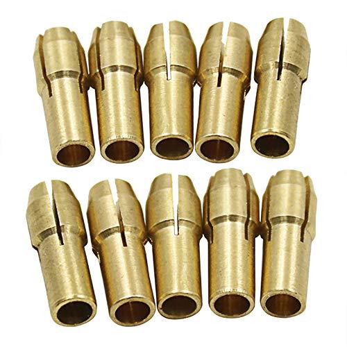 GreceMonday 10PCS / Set Dreibacken Kupfer Bohrfutter Collet Clip Bit Set für Drehen Werkzeug elektrischen Schleifzubehör