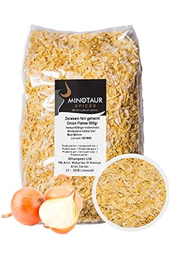 Minotaur Spices   Cipolle tritate Finemente   2 x 500 g (1 kg)   Fiocchi di Cipolla secchi