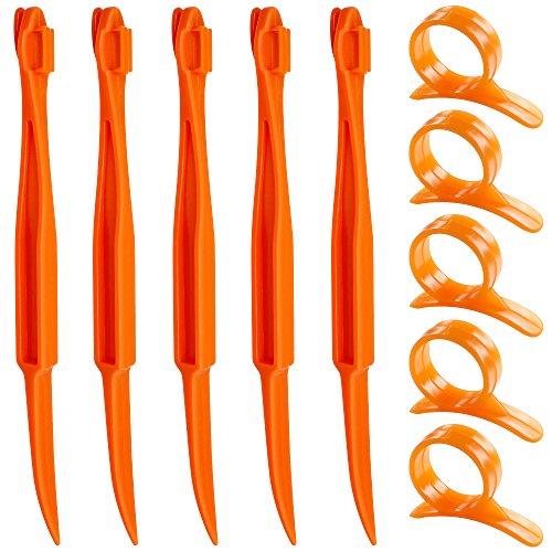 Senhai Orange Citrus Peelers, Set von 10 Kunststoff Frucht Zitrone Hautentferner...