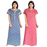 Care Instructions: Hand wash 100% soft cotton fabric for ultimate comfort Length: Full Ankle Length Size: Nighty comes in free size and completely adjustable for (Length-52,Waist-40,Bust-44) It will make you feel pretty and pampered all at the same t...
