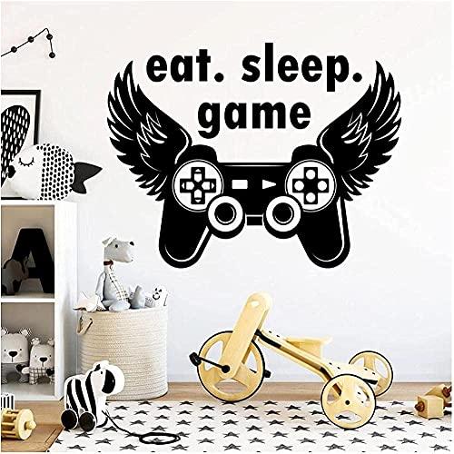 Juego De Dormir Pegatina Jugador De Juegos Pegatina De Pared Pegatina De Joystick Decoración De Videojuegos Jugador Decora