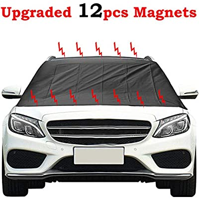 Kribin Magnetic Windshield Snow Cover with 12 P...