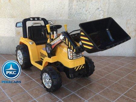 PEKECARS TRACTOR ELECTRICO CAT STYLE CON PALA Y RC