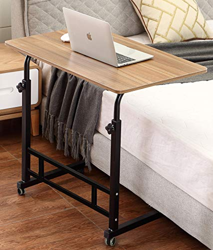 Akway Mobile Laptop Desk Cart 31.5 x 19.6 inches Rolling Cart Notebook Computer Stand Bed Table for...