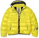 Peak Mountain ECAPTI–Anorak para niño, Niño, Color Amarillo, tamaño 10 años