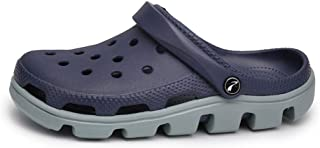 FDSVCSXV Mens Clogs Sandals Garden Shoes, Anti-Slip Water Shoes Outdoor Beach Shower Breathable Sandals Slippers,Blue,39
