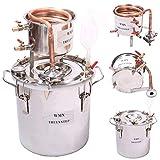 YUEWO DIY Copper Moonshine Still 10L/12L/20L/30L Home Distiller Alcohol Still Distilling Wine Making...