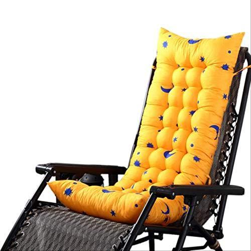 LEELFD Solid Color Garden Rocking Deck Chair Cushion Outdoor Pool Thick Sun Seat Pad Cushions Home Decor Coussin 40x110cm Aurantium